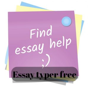 Essay typer free