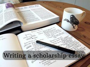 Writing a scholarship essay